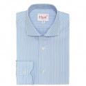 Extra-Slim Light-Blue Shirt with White Stripe