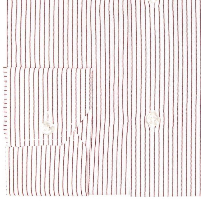 Slim fit thin red stripes poplin shirt