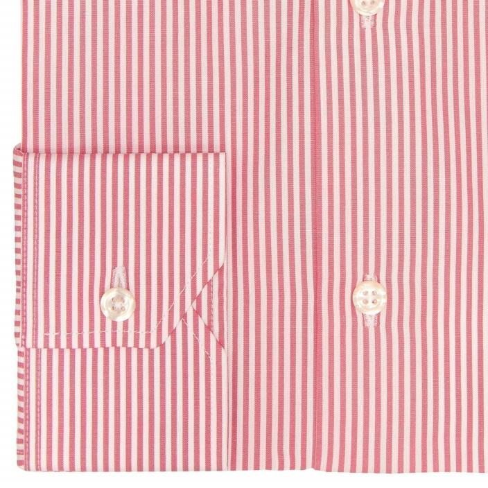 Extra-Slim Garnet Red Stripe Shirt