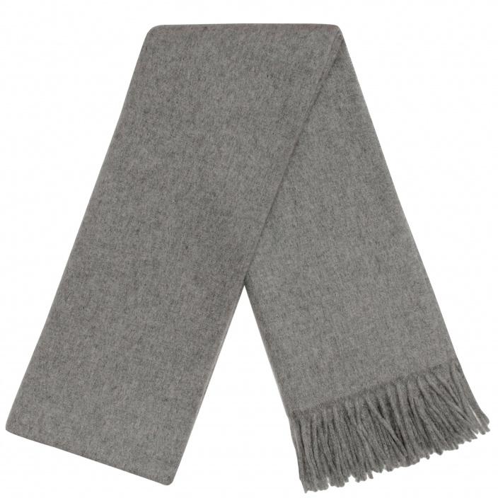 80b5434ff282 Grande Écharpe Grise en pure laine vierge d Italie Hast