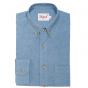Blue puce flannel shirt