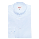 Light-Blue Shirt with Mao Collar