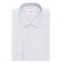 Extra-slim grey shirt with french collar