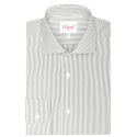 Extra-slim grey stripe shirt