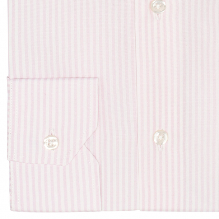 Extra-slim pink stripe shirt
