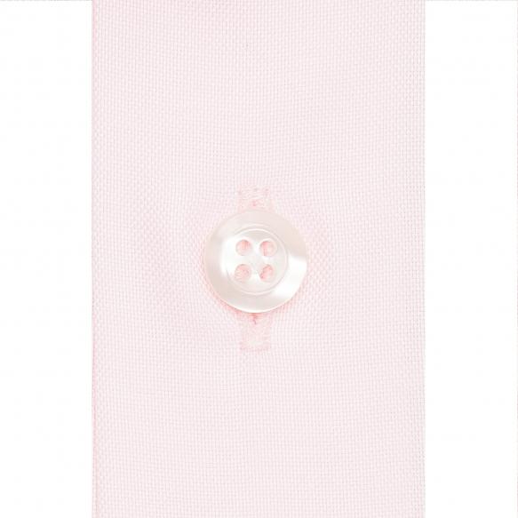 Chemise extra-ajustée rose à col français