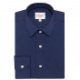 Midnight blue shirt with french collar