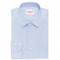 Blue herringbone shirt with french collar
