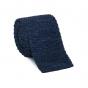 Cravate bleue en maille de lin