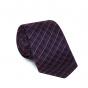 Checked blue tie