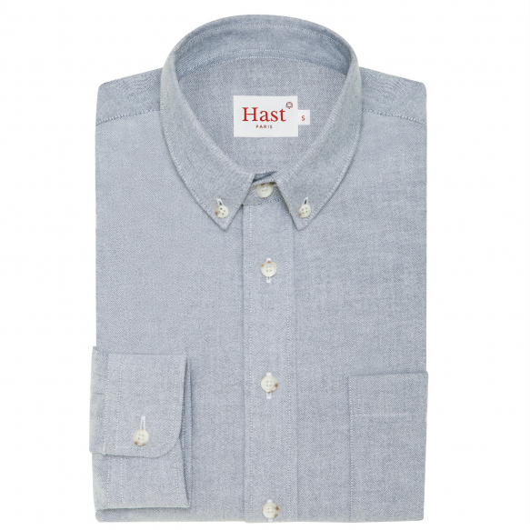 Blue flannel thick cotton shirt