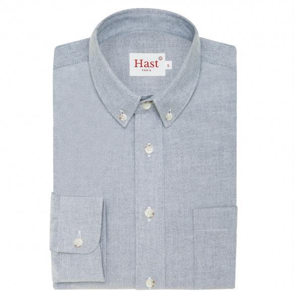 Blue flannel thick cotton shirt