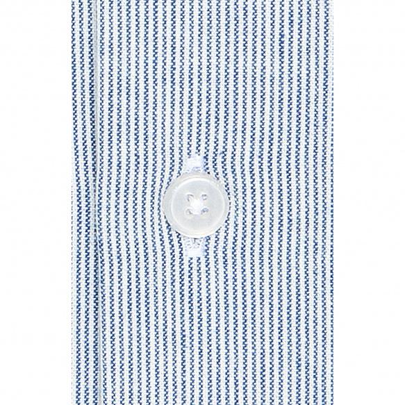 Chemise à rayures bleues