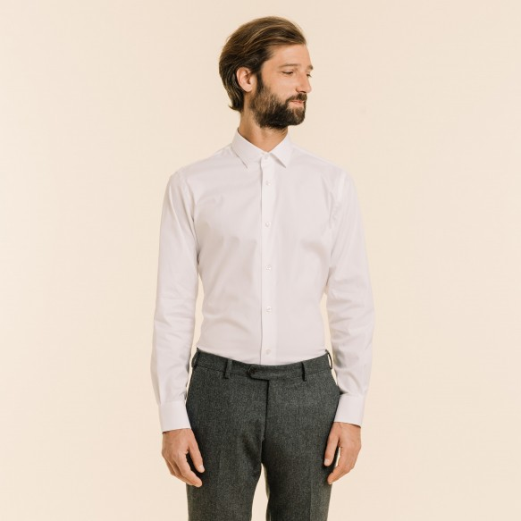 Classic fit white oxford shirt