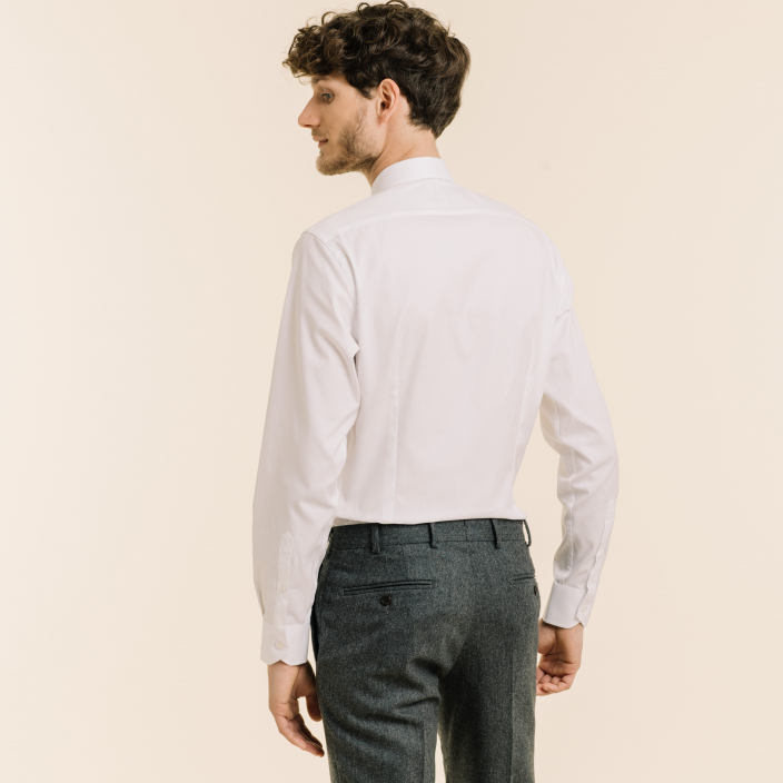 Extra-Slim White Shirt With French Collar