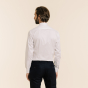Slim fit white twill shirt