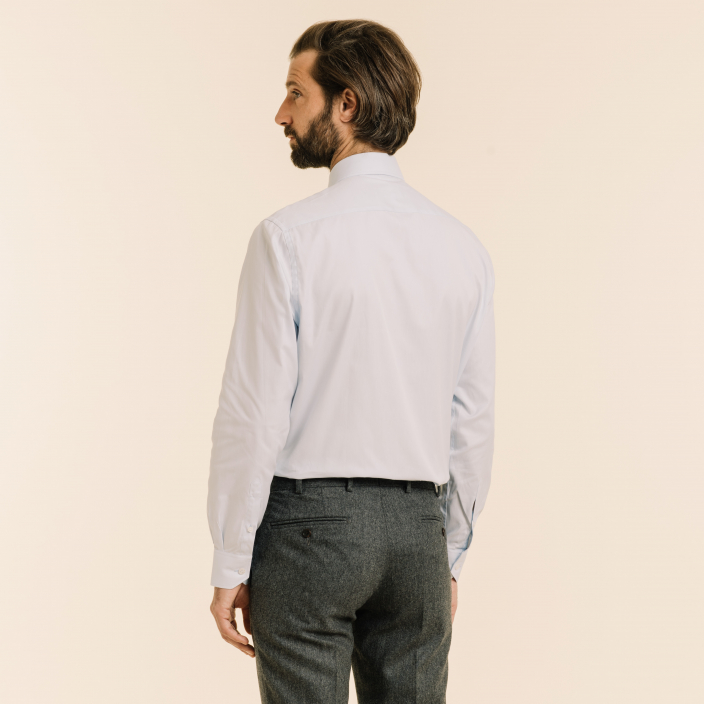 Classic fit light blue oxford shirt