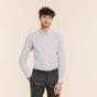 Slim fit light blue fil-à-fil shirt