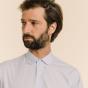 Classic fit light blue fil-à-fil shirt
