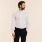 Slim fit dobby white shirt