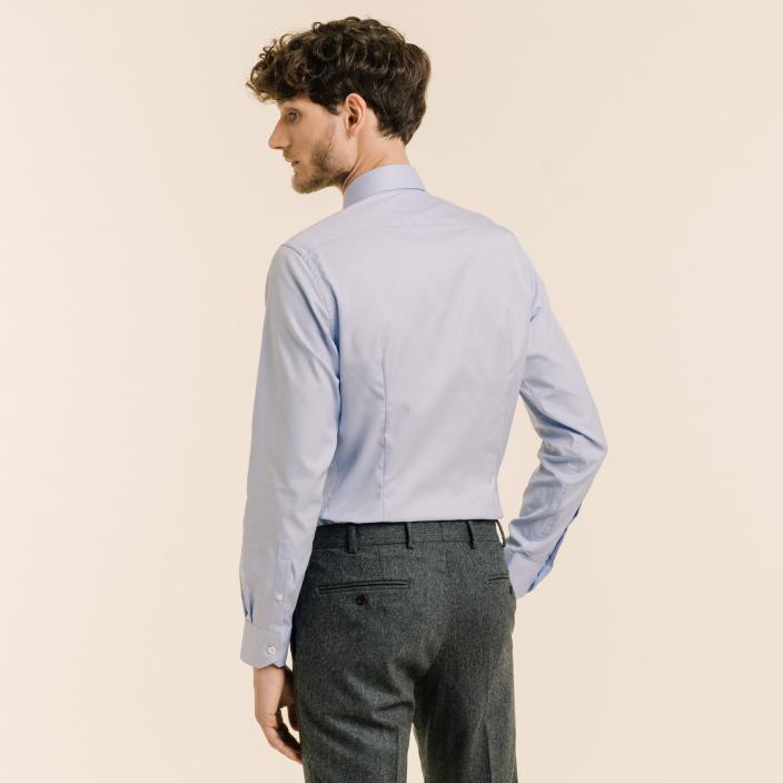 Extra-slim Premium Voyage blue shirt