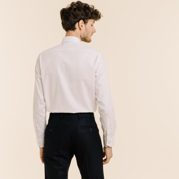 Chemise premium classique en twill blanche
