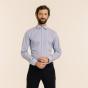 Slim fit premium blue stripes twill shirt