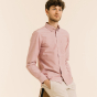 Relaxed fit burgundy oxford shirt