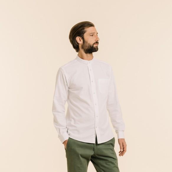 Chemise décontractée en oxford blanche