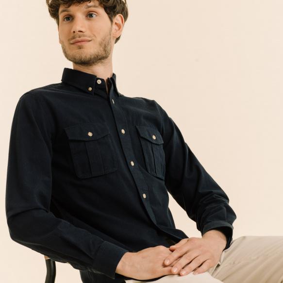 Blue safari shirt