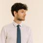 Plain Denim Blue Tie