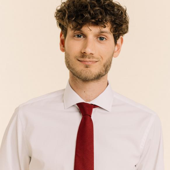 Plain Burgundy Tie