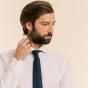 Cravate bleue en laine