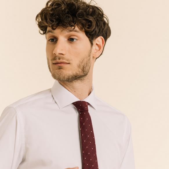 Red Silk Grenadine Tie With...