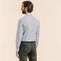 Classic fit blue fil-à-fil shirt