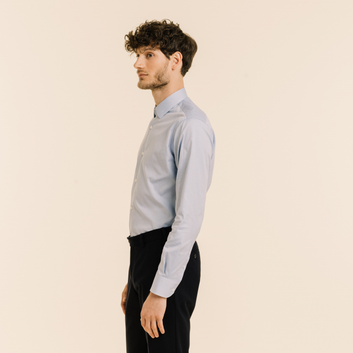 Classic fit blue oxford shirt