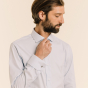 Classic fit oxford light-blue shirt with french cuffs