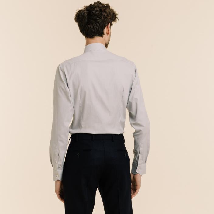 Slim fit grey oxford shirt