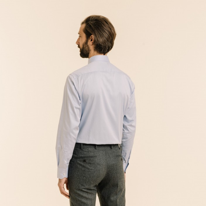 Grey Shirt With French Collar