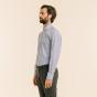 Extra-Slim Dark Blue Stripe Shirt