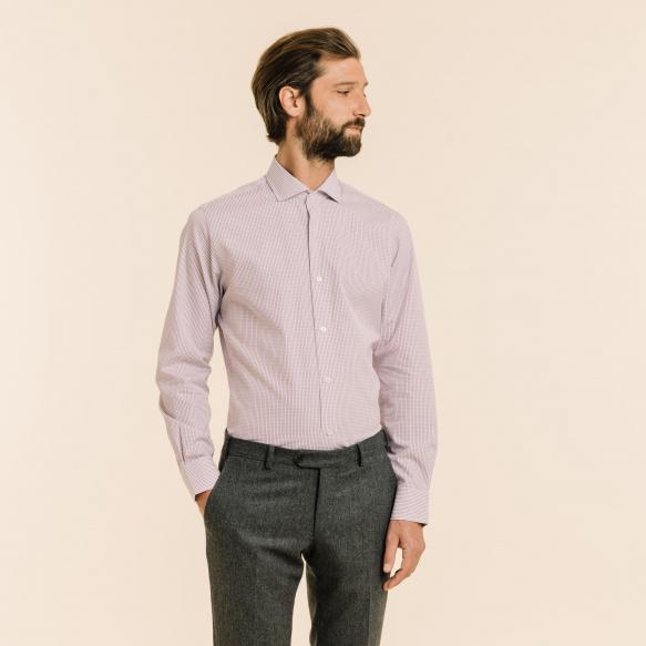 Extra-Slim Purple Check Shirt