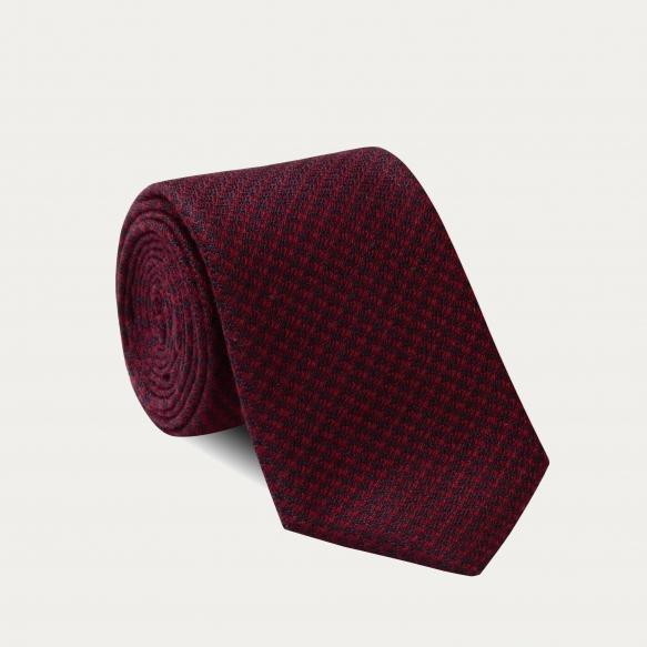 Hound's Tooth Burgundy Tie