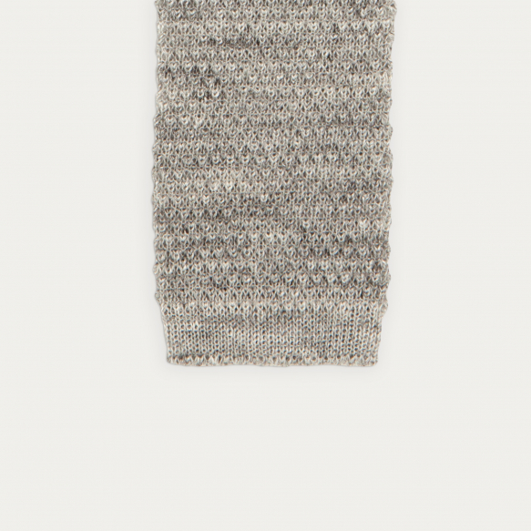 Linen grey knitted tie