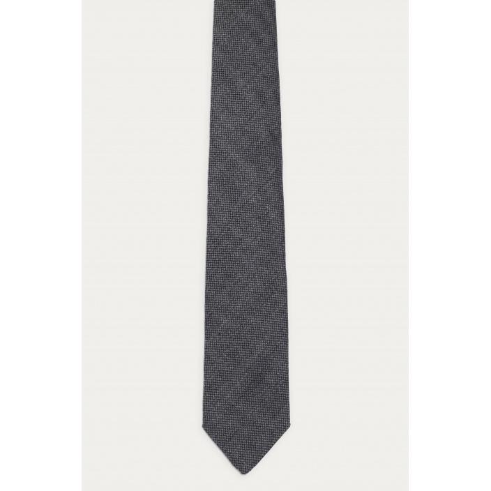 Wool grey tie