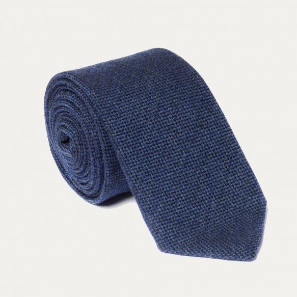 Wool blue tie