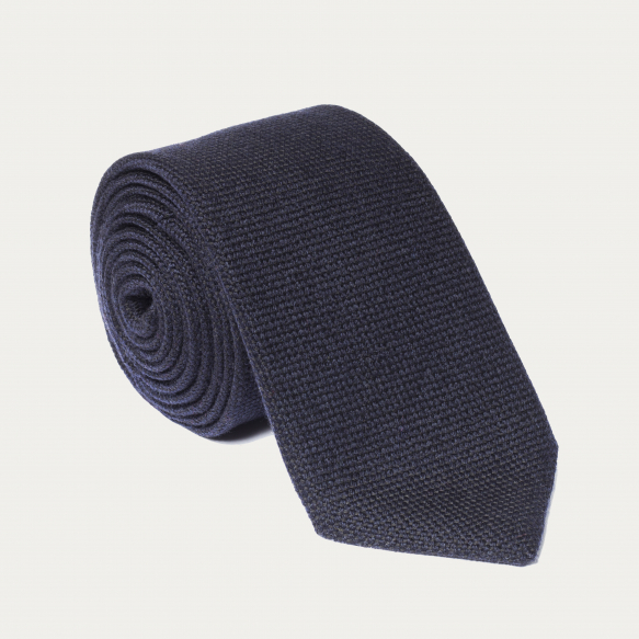 Wool dark blue tie