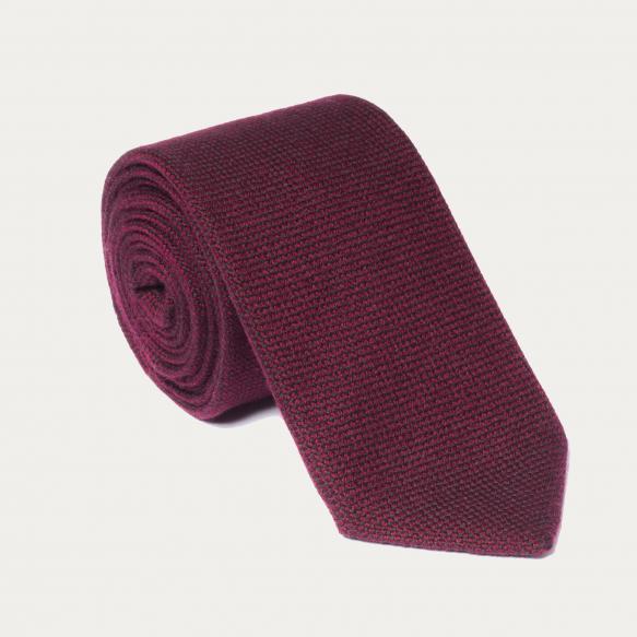 Wool burgundy tie