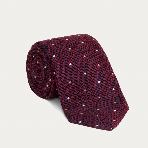 Red Silk Grenadine Tie With...