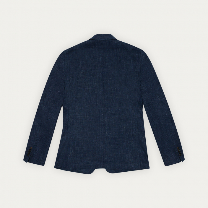 Blue linen and cotton jacket