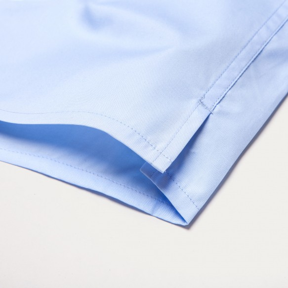 Blue Semi Plain Stripe Boxer